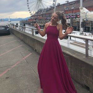 Fuschia Prom Dress
